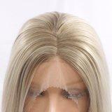 Парик волос длинней прямой платины Dlme белокурый синтетический
