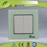 Interruttore ROSSO certificato della parete di modo del gruppo 2 del vetro temperato 2 di standard europeo dei CB del CE di TUV