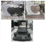 Natürliche Granit-Grundstein-/Finanzanzeige-/Grabstein-Denkmal-Denkmäler
