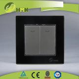 Modo certificato del gruppo 2 del vetro temperato 2 di standard europeo dei CB del CE di TUV con l'interruttore ROSSO della parete del LED