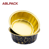 High Quality Aluminum Foil Round Disposable Fruit cake Baking Cups