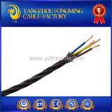 cable Twisted tejido de la iluminación de la tela de algodón del aislante del PVC de 3*18AWG 22AWG