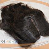 Haut de fermeture de la Dentelle de cheveux brésiliens de la décolleteuse (PPG-L-0797)