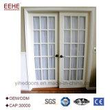 Doppia porta a battenti di vetro di alluminio commerciale insonorizzata di vetro della fabbrica