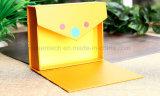 L'impression CMJN de couleur jaune des boîtes en carton de papier petit aimant