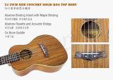 Глянцевое покрытие твердое комфортабельны верхней части 24-дюймовый Гавайи гитара Ukulele