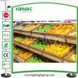 Het Rek van de Vertoning van de supermarkt en het Opschorten voor Groenten