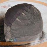 Handtiedのブラジルのバージンの毛の黒のレースのかつら(PPG-l-0386)