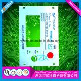 Teclado do interruptor de membrana da fábrica do OEM com área industrial Overlay impressão de Digitas