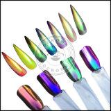 Poudre acrylique de colorant de vernis à ongles de miroir de chrome de licorne