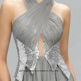 Горячее сбывание плиссирует Sequined официально платье
