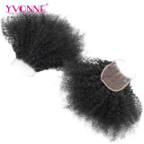 Yvonne Nouveau style brésilien cheveux afro Kinky Curly dentelle fermeture