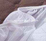 O uso econômico derretido quente do hospital da HOME da prova do erro de base da colagem estofou a tela de algodão que enche o protetor impermeável da tampa do colchão