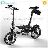 La bici plegable eléctrica viene con la batería de litio de Panasonic 14-Inch