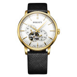 Horloges van uitstekende kwaliteit van het Skelet van het Embleem van de Douane van de Mensen van het Polshorloge van Japan van het Roestvrij staal van het Ontwerp van de Manier de Automatische Mechanische