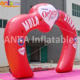 Jardin Arche de mariage de forme de coeur d'arche de l'air gonflable