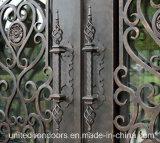 Квадратная верхняя входная дверь ковки чугуна (UID-D050)