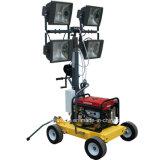 4X1000W L'éclairage portable Tour avec générateur diesel ou essence