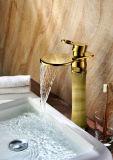 贅沢選抜しなさいハンドルの真鍮の浴室の大理石の洗面器のミキサーのコック(ZF-H-002B)を