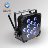 Indicatore luminoso senza fili UV di PARITÀ della fase LED della sfortuna 12*18W 6in1 Rgbaw