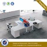 박판으로 만들어진 사무용 가구 L 모양 워크 스테이션 사무실 분할 (HX-NJ5014)