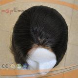 を離れて黒いバージンの毛の絹の上の女性のかつら(PPG-l-0559)