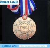 Cadeau fait sur commande de promotion de souvenir de médaille en métal de médaille de jeux de sports