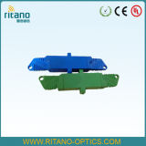 Adaptadores del cable óptico de fibra de E2000/PC con de pequeñas pérdidas en 0.2dB con la casa azul plástica
