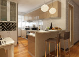 Module de cuisine de luxe moderne en bois solide rectifiant des idées Prima