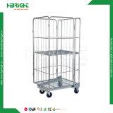 Carrinho de Administração Logística de armazém Roll cage contentor com rodas