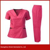 Стационар OEM 100%Cotton Scrubs для формы людей женщин медицинской (H12)