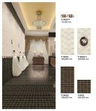 Baldosa cerámica de la mirada del mosaico del color de Brown del material de construcción para el suelo y la pared