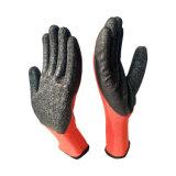 De rubber Met een laag bedekte Handschoenen van de Greep van het Katoenen Rode Latex Met een laag bedekte Huis van het Werk