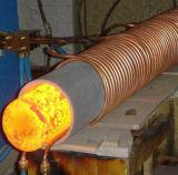 IGBT de calentamiento por inducción calentamiento de la máquina de forja de piezas estándar de fijación y la forja de la barra de la máquina