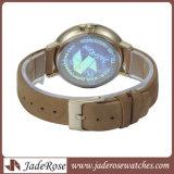 Frauen-Leder-Uhr-Form-Armbanduhr