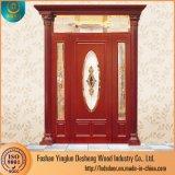 Double rotation Desheng demi verre de l'intérieur des portes en bois de teck