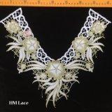 ткани уравновешивания шнурка Applique цветка вышивки Venise ворота корабля 40*36cm поставкы Hme950