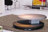 光沢度の高いおよびベニヤの居間表(CJ-M042F)の旧式な円形のコーヒーテーブル