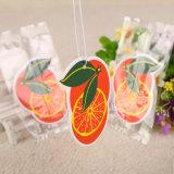 Aroma de Naranja Naranja diseño hace papel colgantes Ambientador de coche (YH-AF285)