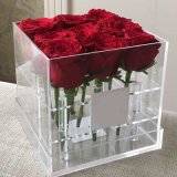 Customized Clear Acrylic Rose Box Flower Gift Box