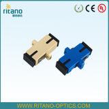 Blauwe Adapters van de Aanslutingen van de Aanleg van kabelnetten van de Vezel van Sc Single-Mode Duplex Optische met Flens