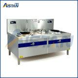 PT15K-002ステンレス鋼の電磁石の二重平頭の炉の誘導の炊事道具