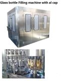 Автоматическая стеклянную бутылку металлические винты с соком напитков жидкости заправки машины с вибрация крышку элеватора соломы