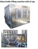 Frasco de vidro automática da tampa de metal máquina de enchimento de líquido de bebidas de suco com tampa de vibrar elevador
