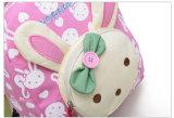 Mini mochilas del jardín de la infancia del bolso de libro del niño del bebé de los cabritos de escuela de los bolsos del conejo del oso de las muñecas del Applique del morral lindo encantador de la lona