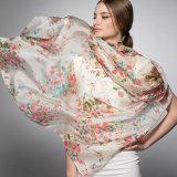 Печатание цифров высокого качества шарф изготовленный на заказ Silk (HJ1707-029)