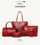 Les femmes de gaufrage Handbag Set de gros sacs de cuir Lady sac à main