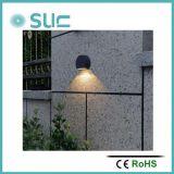 Luz ao ar livre do diodo emissor de luz da parede da carcaça preta quente da venda 3W