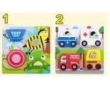 O novo 3D as crianças de madeira de brinquedos educativos Carro Animal Farm jogo puzzle do bebé