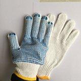 Пвх пунктирной строительные рабочие перчатки
